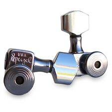Sperzel Trim Lock Tuners, 6 in Line Chrome Plated