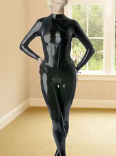 latex Rubber Black Handsome Catsuit Full-body Bodysuit Suit Tailored Size XS-XXL