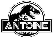 Stickers T.Rex dinosaure 20X27cm prénom et couleur au choix
