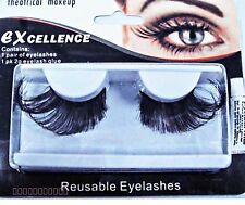 Halloween Black False Fake Eyelashes Makeup Party Costumes Fancy Dress Eyelash