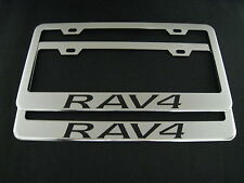 "2 toyota ""RAV4"" RAV 4 Stainless Steel Chrome license plate Frame + screw caps"