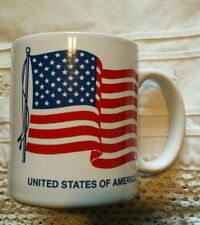 VTG UNITED STATES OF AMERICA FLAG PATRIOTIC COFFEE MUG CUP HALLMORE INC. USA