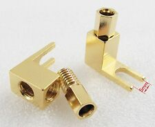 10pcs Gold Plated Copper Spade Banana Fork plug Mcintosh Amp Eico tube Adapters