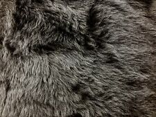 FAUX SHORT HAIR FUR DARK GREY FABRIC FANCY DRESS PER M