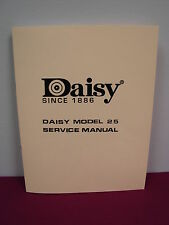 "Daisy Model 25 BB Gun Factory ""Service Manual"""