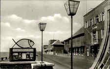 Wilhelmshaven Postkarte ~1950/60 Südstrand Strassen Partie am Seewasser-Aquarium