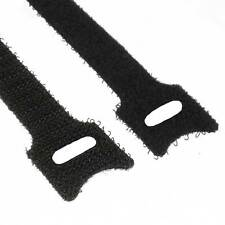 InLine Cable tie with Velcro lock, 12x125mm, 10 per, black