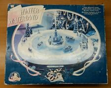 Mr. Christmas Winter Wonderland Rowboat and Fountain Complete RARE!