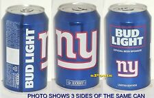2016 NEW YORK GIANTS BUD LIGHT KICKOFF BEER CAN NY BLUE FOOTBALL SPORTS MAN CAVE