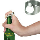 Stainless Steel Finger Thumb Ring Bottle Open Opener Bar Beer Tool Silver