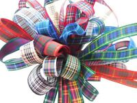 10MM BERISFORDS ASSORTED TARTAN RIBBON BUNDLE 10 X 1MTR
