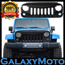 07-16 Jeep JK Wrangler Shinny Black Angry Bird Replacement Grille Shell Rubicon