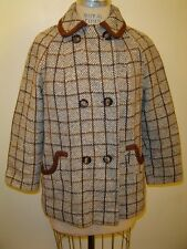 Vintage Double Breasted Plaid Tweed Double Breasted Coat M/L?