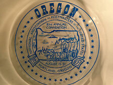 "Vtg 1987 United States 83rd Postmasters Convention Collectible 9"" Plate OREGON"