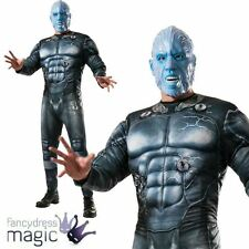 Official Adult Mens Deluxe Spiderman 2 Electro Costume Muscle Chest Fancy Dress