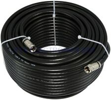 100FT High Quality RG6 Black Coax Cable 18 AWG CCS with Connectors TV Satellite