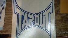 "Tapout Graphics BLUE 10 1/2"" X 9 3/4"" Large Window Decal auto car truck window"