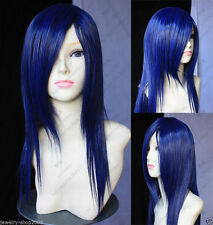 FIXSF527 vogue long dark blue health cosplay  Hair wig Wigs for women
