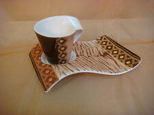 VILLEROY BOCH NEW WAVE CAFFE AMBOSELI ESPRESSO CUP PLATE LIMITED EDITION 2007
