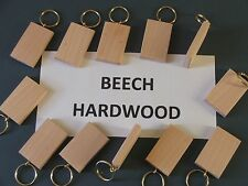 50mmx30mm BEECH KEYRING BLANKS,PYROGRAPHY,ENGRAVINGetc.12 FOR £7-99INCpost