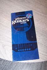 Vintage 1970 Gibson Flat Top  Acoustic Guitar catalog.