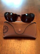 LADIES RAY BAN RB4061 TORTOISE B15 BROWN POLARIZED GLASS LENS SUNGLASSES w/CASE