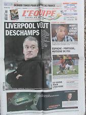 L'Equipe du 26/6/2010 - Liverpool veut Deschamps - Henry - Espagne-Portugal