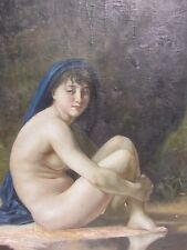 EXCEPTIONAL ANTIQUE 18TH 19TH CENTURY ITALIAN SCHOOL NUDE OIL PAINTING SIGNED