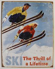 VINTAGE SKI ART POSTER METAL SIGN Snow Sports Alpine Snowboard NEW Retro Tin USA