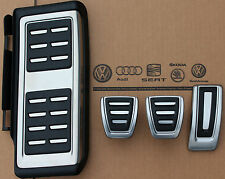 Audi A3 8V original S3 RS3 Pedal caps cover kit footrest for manual cars
