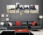 5pc Modern Abstract large Art Oil Painting:city Wall Decor canvas No frame