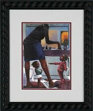 """African American Black Art Print """"SHE DID IT"""" by Lonnie Ollivierre"""
