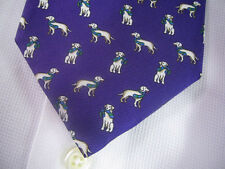 New BROOKS BROTHERS Dog Print Purple Silk Tie ~ NWOT $79.50