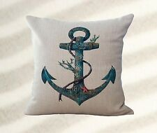 US Seller-marine nautical anchor cushion cover inexpensive decorative pillows