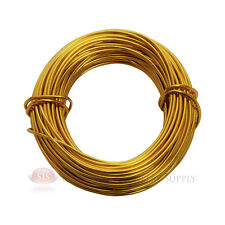 Gold Aluminum Craft Wire 18 Gauge 39 Feet 11.8 Meters Wrapping Sculpture