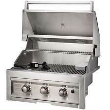 Sunstone Grills 28 Inch 3 Burner Built-In Gas Grill (Natural or Propane)