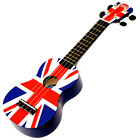 Mahalo Union Jack Uk Soprano Ukulele Uke With Soft Case