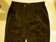 J Crew Corduroy Pleated Front Pants Men's Size 34 R Brown