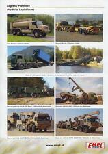 EMPL LOGISTIC PRODUCTS 2015 MILITARY TRUCKS BODIES BROCHURE PROSPEKT FOLDER