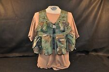 USGI VEST WITH 9 POUCHES - FLC WOODLAND CAMO - MOLLE II - ISSUED GOOD CONDITION