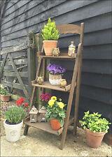 Jardin d'herbes jardiniere pot support de stockage en bois de terrasse fleurs étagère outdoor