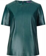 BNWT TWIGGY FOR M&S GENUINE LEATHER LINED TOP SIZE 8
