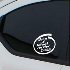 2x Glen of Imaal Terrier  Inside stickers car decal