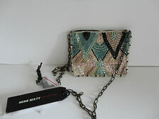 Miss Sixty 'Siviglia' Beaded evening shoulder bag with chain strap