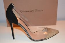 GIANVITO ROSSI 11cm heels Suede & Pvc Pumps, Black NEW GENUINE 40 EU