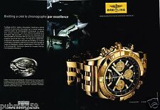 Publicité advertising 2010 (2 pages) La Montre Chronomat B01 Breitling