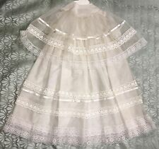 Vintage Handmade Baptism Christening Outfit Gown Cape Satin Lace Elizabethan 3-6
