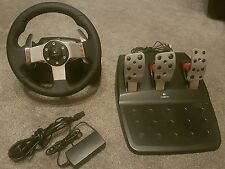 Logitech g27 racing steering wheel and peddles