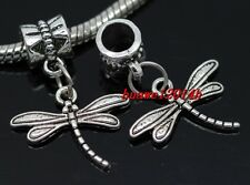 Wholesale 30pcs Tibetan Silver dragonfly Bulk Lots Dangle Charms Fit Bracelet