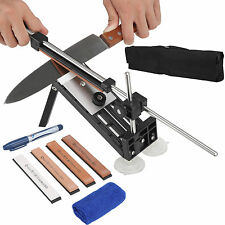 Professional Knife Sharpener Kitchen Sharpening  System Fix Angle with 4 Stones